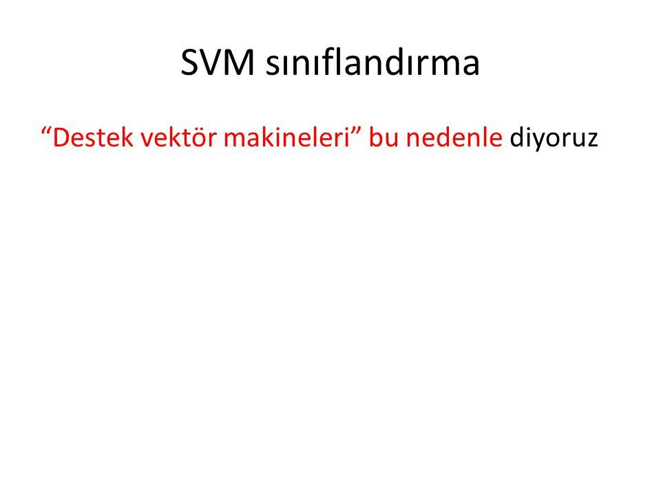 """SVM sınıflandırma """"Destek vektör makineleri"""" bu nedenle diyoruz"""