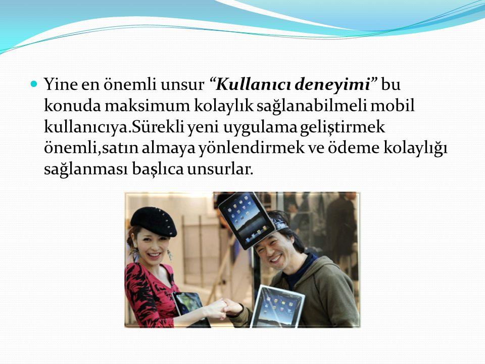 Türkiye'de mobil ödeme sistemlerine geçiş birkaç yıl öncesine dayansa da, mobil ticaret anlamında hala yeni stratejiler geliştirilebilir.Ve mobil ödeme bir kullanıcıyı alışveriş sırasında maksimum olarak rahatlatan bir ödeme tarzı.