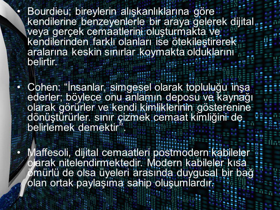 Dijital Cemaat Örneği; İnci Sözlük İnci sözlük 19 aralık 2009 günü İsmail Alpen ve Serkan İnci tarafından kurulmuş interaktif sözlüktür.
