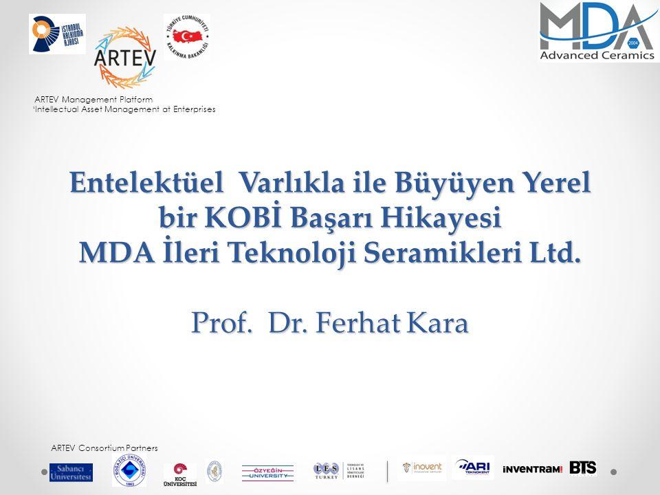 ARTEV Management Platform 'Intellectual Asset Management at Enterprises ARTEV Consortium Partners MDA Kimdir.