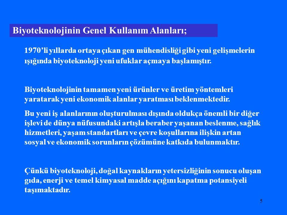 """4 Neden Biyoteknoloji (devam) * Türkiye'nin 6., 7., ve 8. Kalkınma planlarında ve """"Bilim ve Teknoloji Yüksek Kurulu'nun öncelikli alan olarak belirled"""