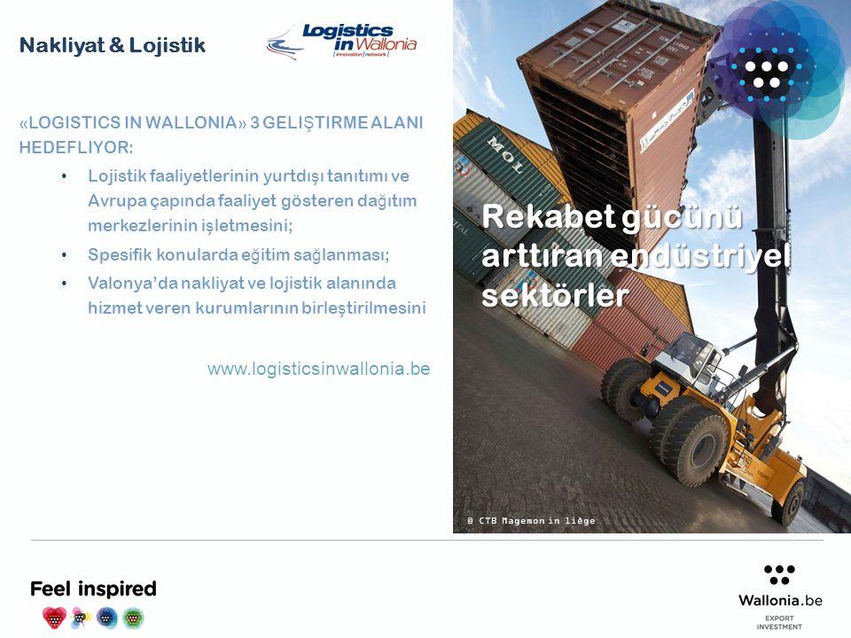 «LOGISTICS IN WALLONIA» 3 GELI Ş TIRME ALANI HEDEFLIYOR: Lojistik faaliyetlerinin yurtdı ş ı tanıtımı ve Avrupa çapında faaliyet gösteren da ğ ıtım me
