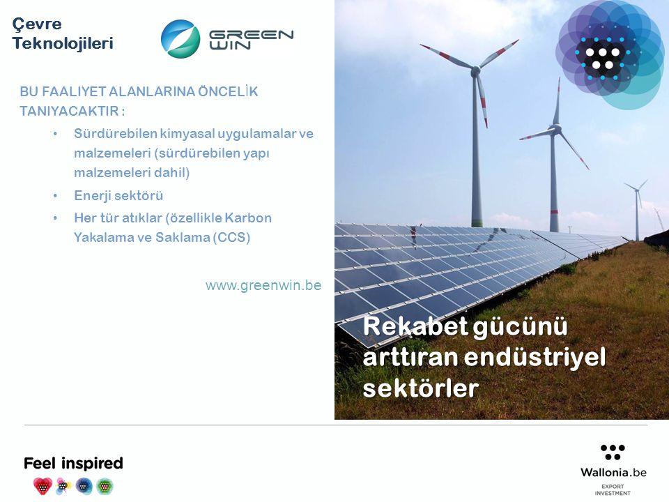 BU FAALIYET ALANLARINA ÖNCEL İ K TANIYACAKTIR : Sürdürebilen kimyasal uygulamalar ve malzemeleri (sürdürebilen yapı malzemeleri dahil) Enerji sektörü