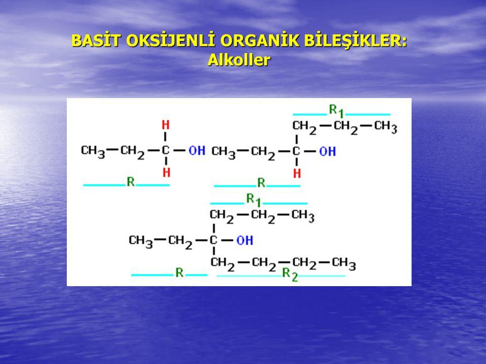 Alkoller Adlandırma molekülün bir alkan ya da alken olarak yapılan adlandırılmasının sonuna –ol eki getirilerek adlandırılma yapılır.