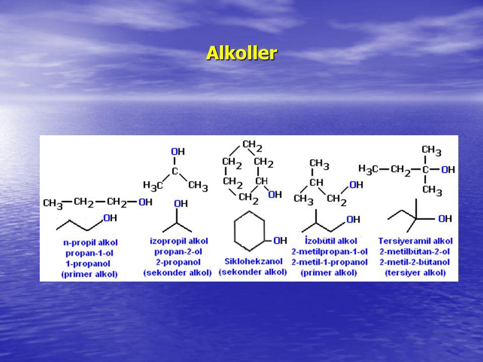 Karboksilik asitlerin verdikleri reaksiyonlar: Alkollere karboksil guruplarının ilavesi sonucu laktonlar olarak bilinen halkalı esterler ortaya çıkar.