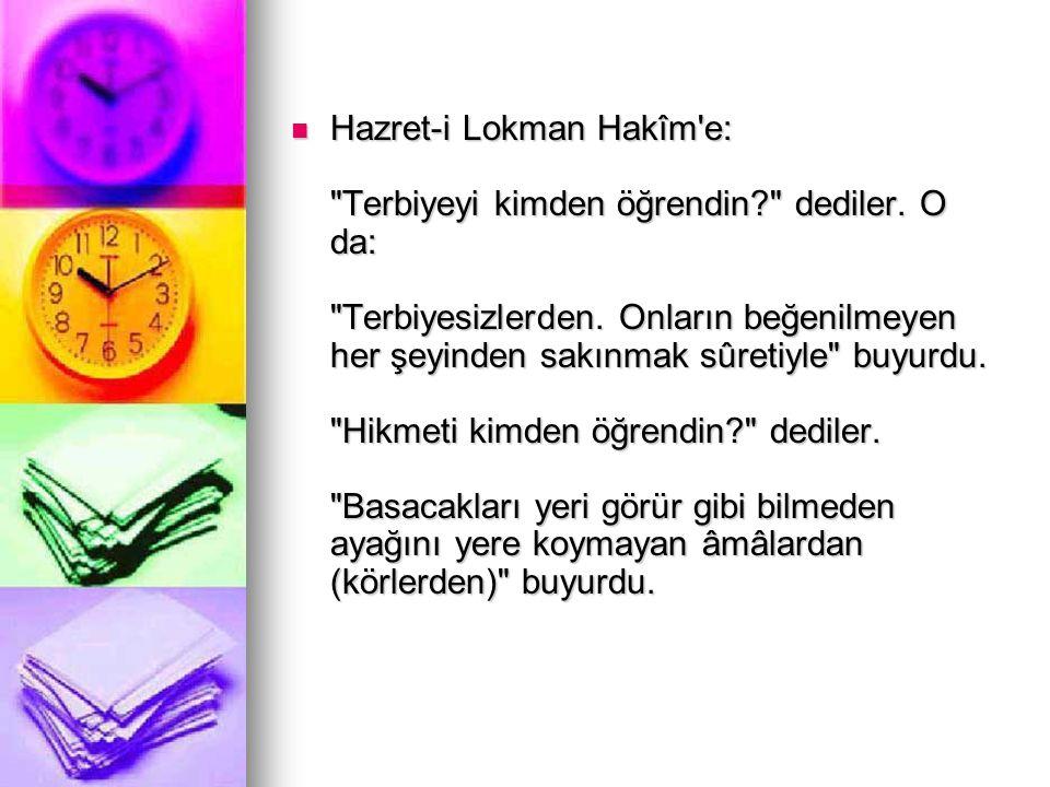 Hazret-i Lokman Hakîm'e:
