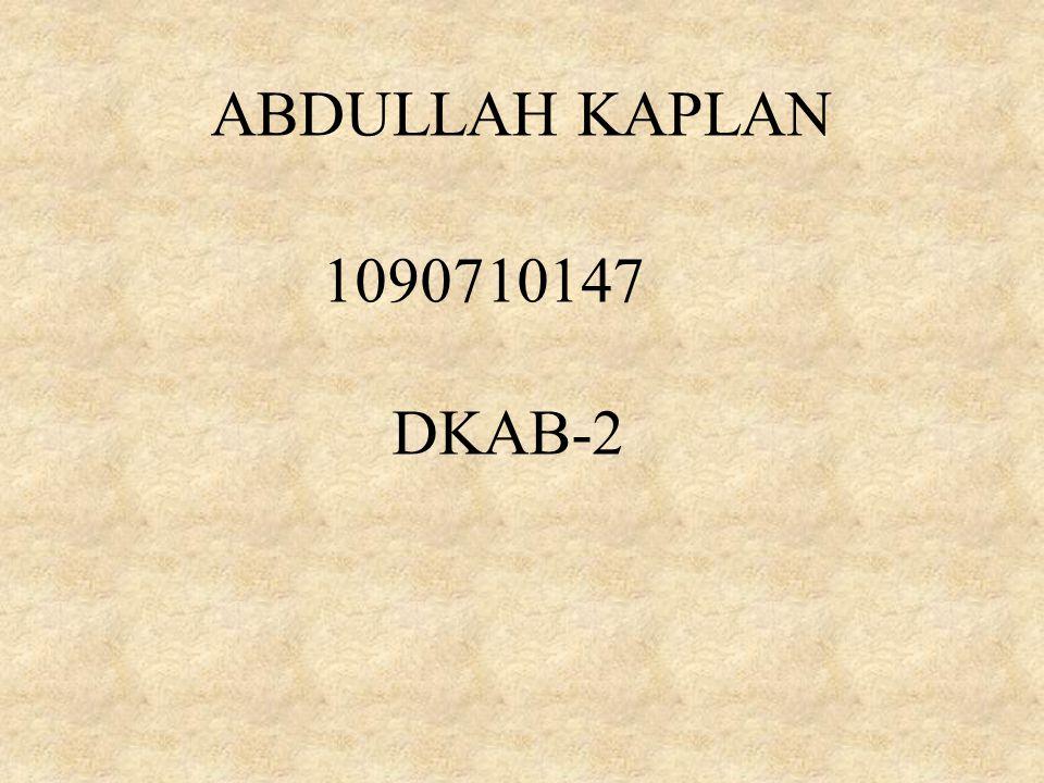 ABDULLAH KAPLAN 1090710147 DKAB-2