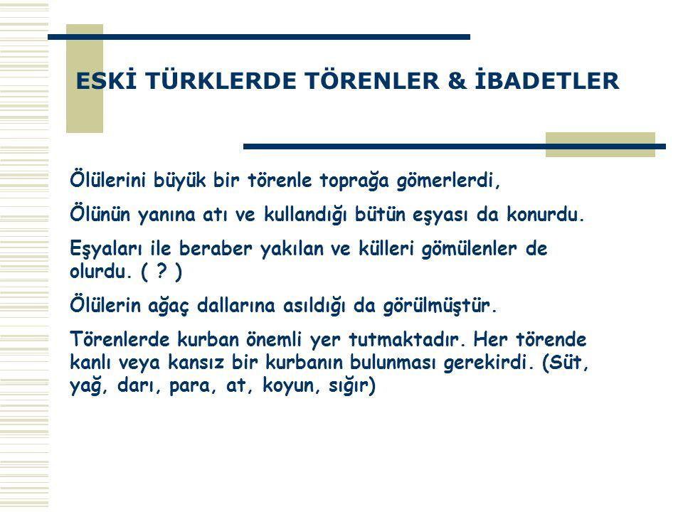 TÜRKLERİN ESKİ İNANIŞLARI İLE İSLÂMİYET ARASINDAKİ BENZERLİKLER 1.