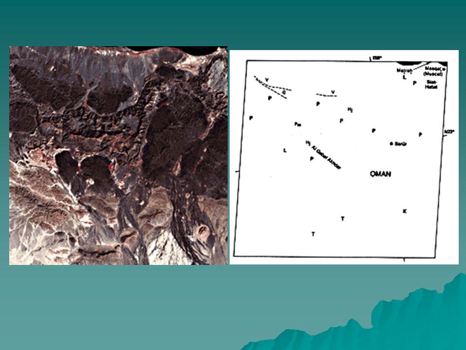  Umman'daki jeolojik durum, kaya ünitelerinin 3 gruba bölünmesiyle iyi anlanabilmiştir:  1)Tabandaki otokton kayaçlar, kalın sekanslı sığ su şelf karbontaları(Hajar Super-Group, Orta Permiyen- Senemoniyen) tarafından kaplanan Paleozoik ve belki Prekambriyen metamorfik kayalarının sonucu olmuştur, ki bunlar doğu Arap kıtasal kenarının karakteristiğidir.