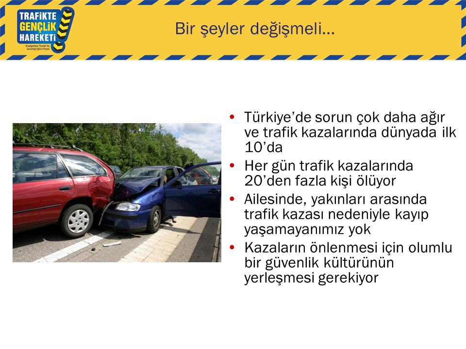 Bir şeyler değişmeli… Türkiye'de sorun çok daha ağır ve trafik kazalarında dünyada ilk 10'da Her gün trafik kazalarında 20'den fazla kişi ölüyor Ailes