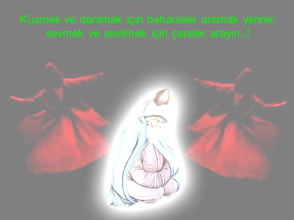 Küsmek ve darılmak için bahaneler aramak yerine; sevmek ve sevilmek için çareler arayın..!