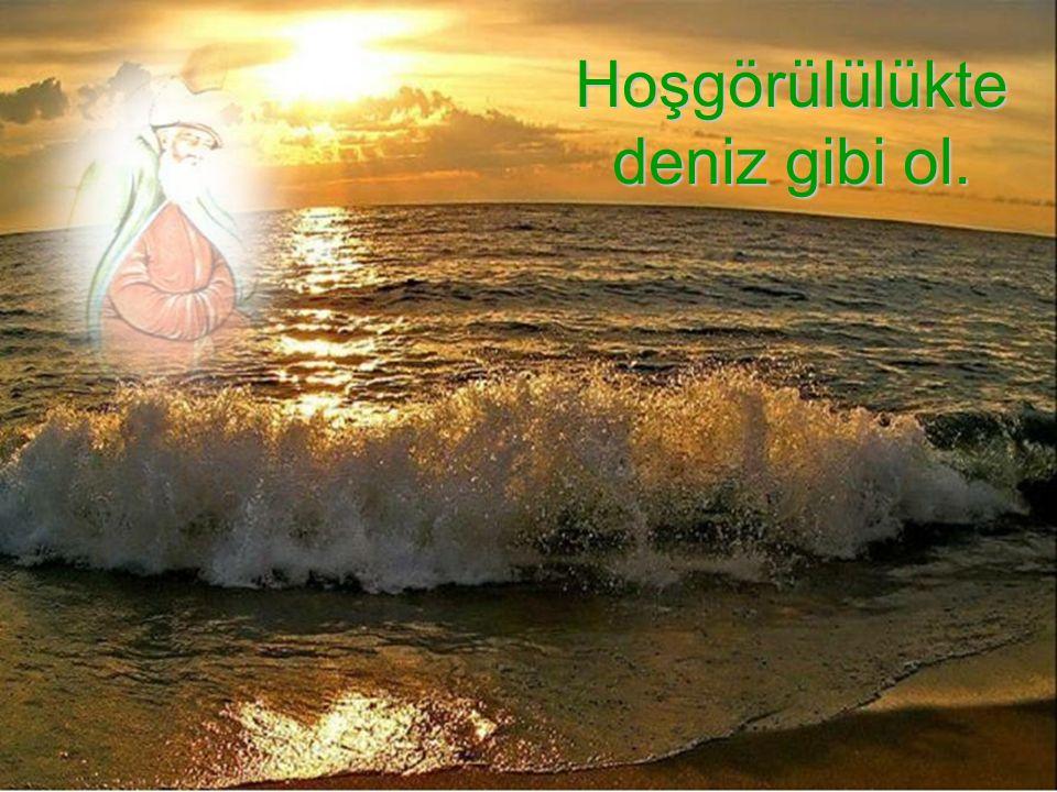 Hoşgörülülükte deniz gibi ol.