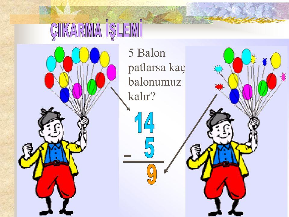 5 Balon patlarsa kaç balonumuz kalır? -