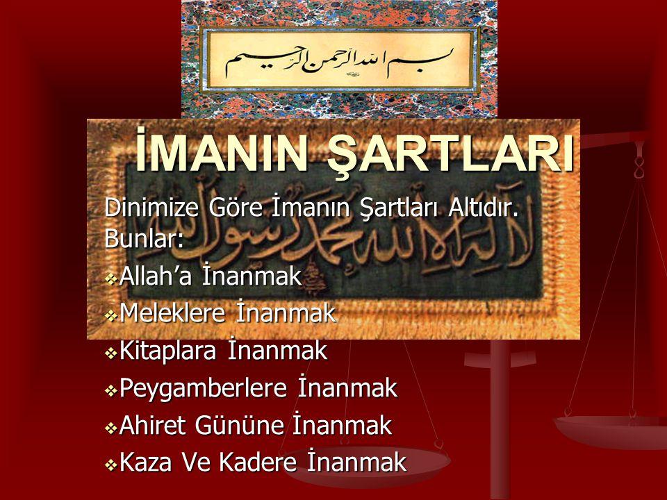 ALLAH'A İMAN  İnsanlara yaratıcıyı en iyi tanıtanlar yine Allah'ın gönderdiği peygamberler ve onların getirdiği kutsal kitaplar olmuştur.