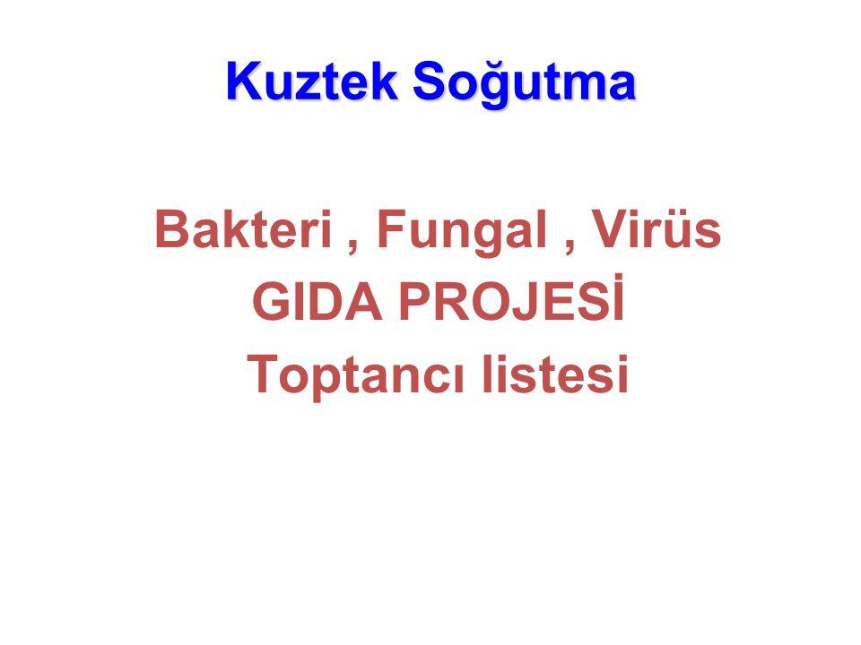 Kuztek Soğutma Bakteri, Fungal, Virüs GIDA PROJESİ Toptancı listesi