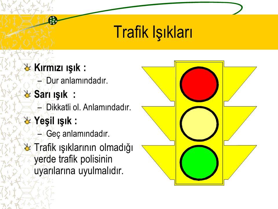 Trafik Kuralı Taşıtların ve yayaların nasıl hareket edecekleri bazı kurallara bağlanmıştır. Buna TRAFİK KURALLARI denir.
