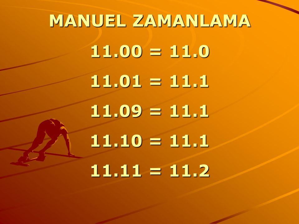 MANUEL ZAMANLAMA 11.00 = 11.0 11.01 = 11.1 11.09 = 11.1 11.10 = 11.1 11.11 = 11.2
