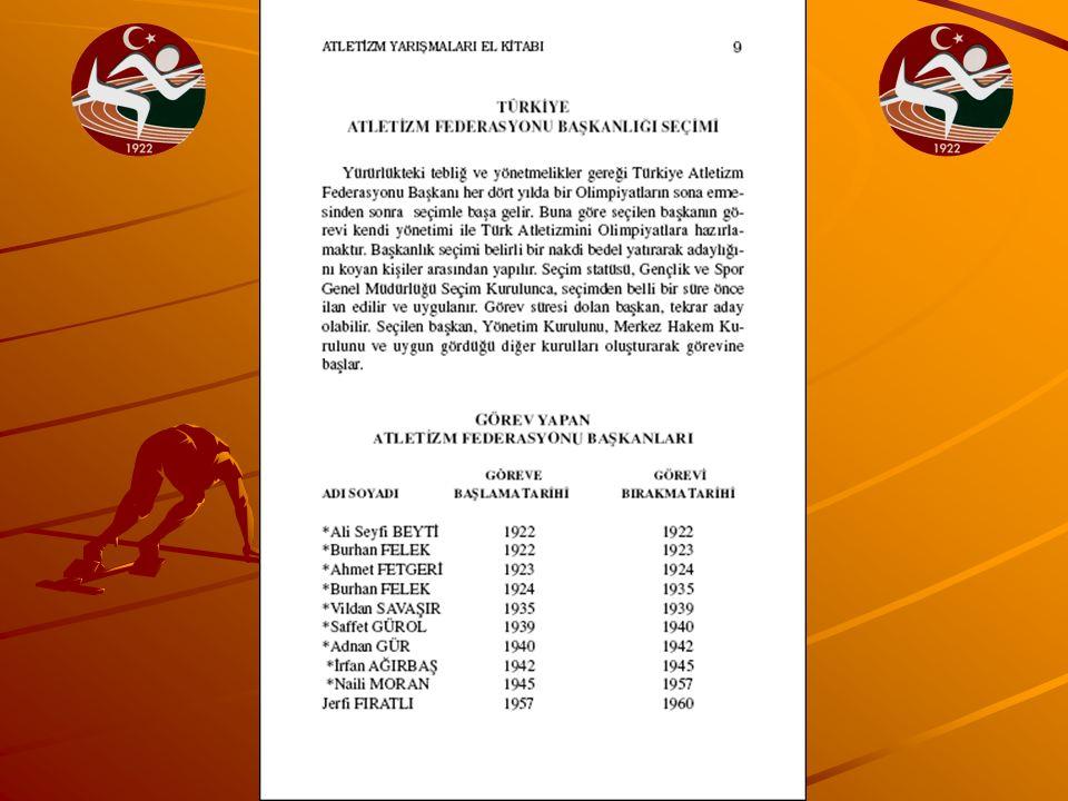 YABANCI UYRUKLU SPORCULAR IAAF Kurallarına uygun olmak kaydı ile Atletizm IAAF Kurallarına uygun olmak kaydı ile Atletizm Federasyonu sporcu lisansı Tescil,Vize ve taran- Federasyonu sporcu lisansı Tescil,Vize ve taran- sfer talimatı hükümlerine uygun olarak yarış- sfer talimatı hükümlerine uygun olarak yarış- malara katılabilirler.