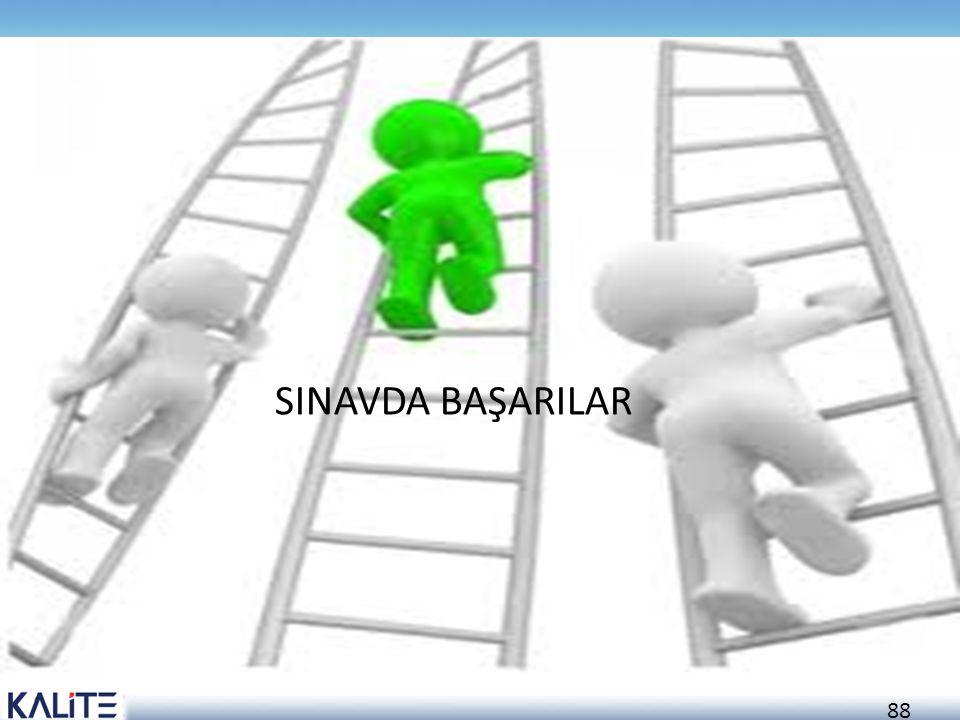 88 SINAVDA BAŞARILAR