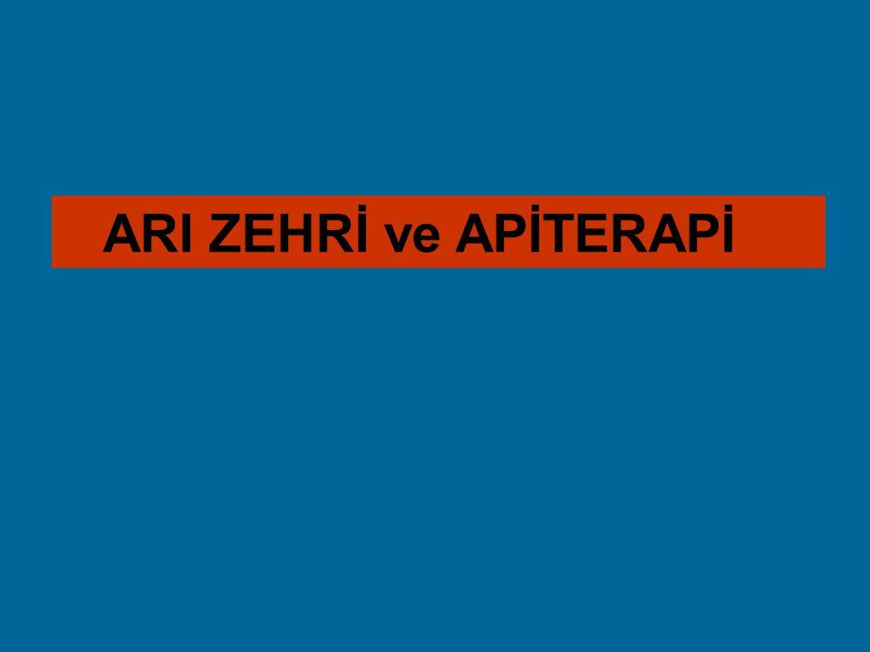 ARI ZEHRİ ve APİTERAPİ