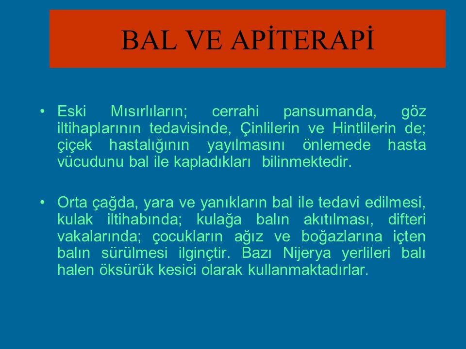 APİTERAPİ UYGULAMALARI