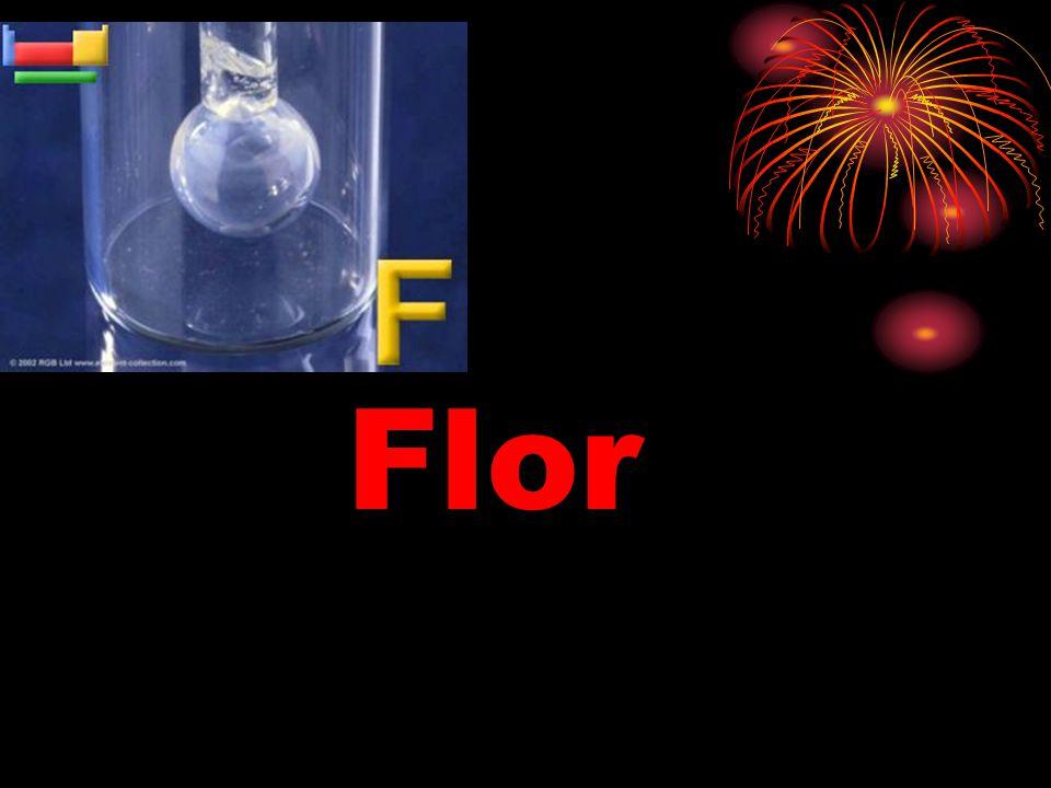 Yüksek kimyevi aktifliği nedeniyle flor, tüm materialleri korozyona uğratır.
