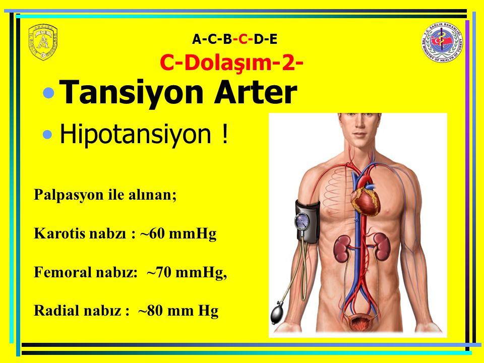 A-C-B-C-D-E C-Dolaşım-2- Tansiyon Arter Hipotansiyon .