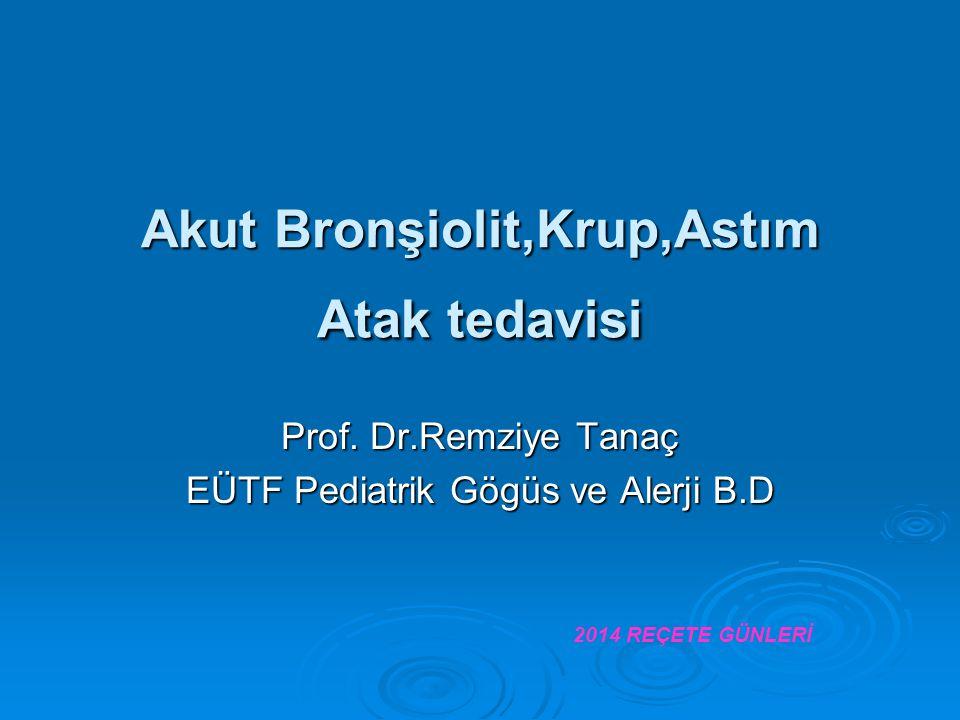 Akut Bronşiolit,Krup,Astım Atak tedavisi Prof.