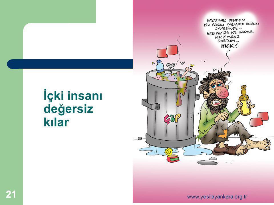 21 İçki insanı değersiz kılar www.yesilayankara.org.tr