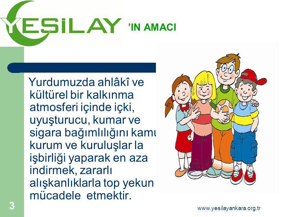 Göz sağlığımızı korumak için bilgisayar başında geçirdiğimiz her saat için yarım saat ara verelim 34 www.yesilayankara.org.tr