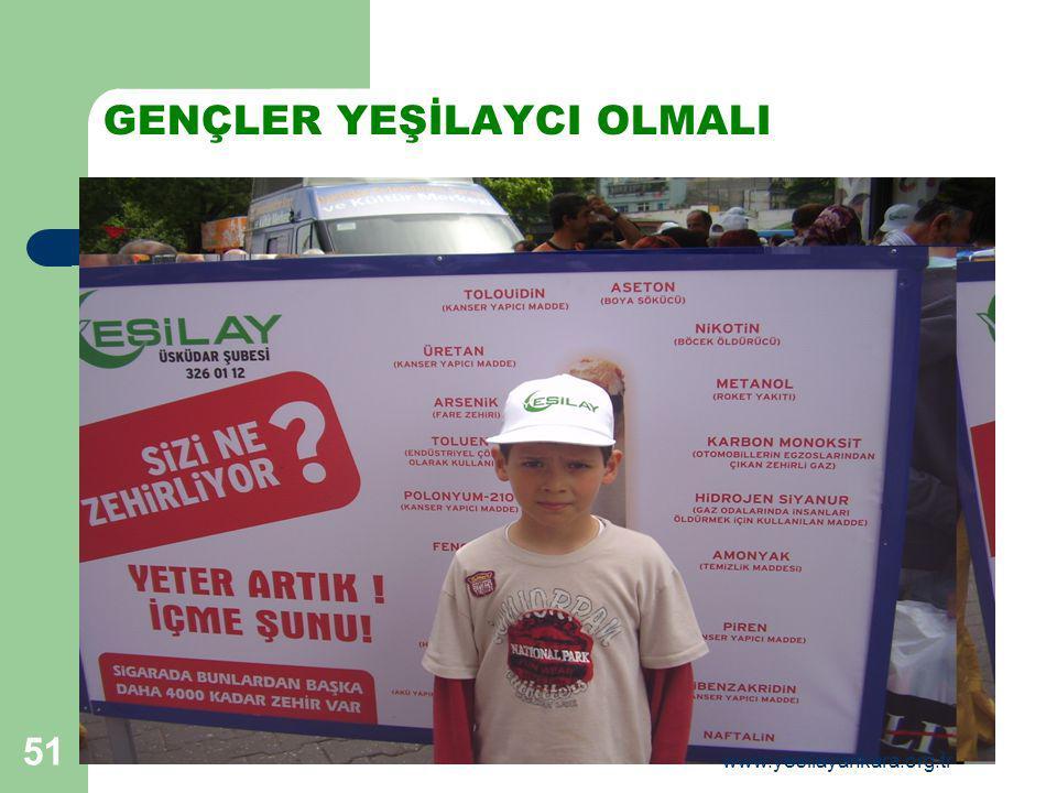 51 GENÇLER YEŞİLAYCI OLMALI www.yesilayankara.org.tr