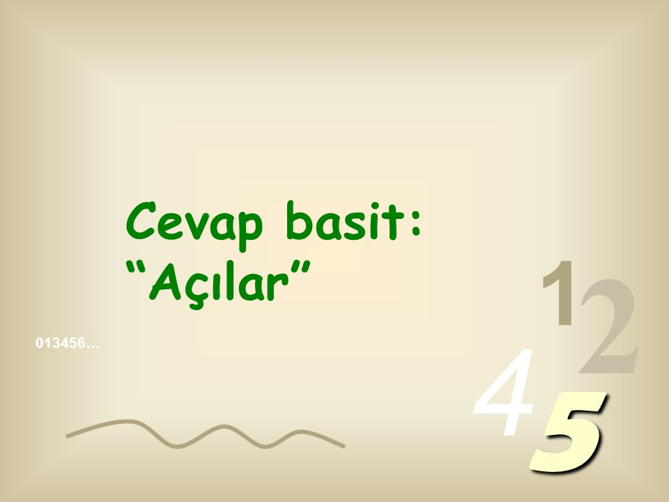 013456… 1 2 4 5 Arap algoritmalarında var olan mantık, nedir