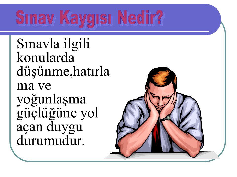 SINAV ÖNCESİ NELER YAPMALIYIZ.