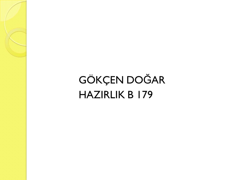GÖKÇEN DO Ğ AR HAZIRLIK B 179