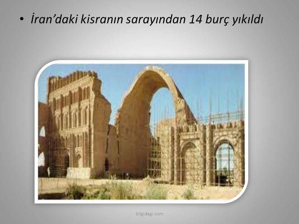 İran'daki kisranın sarayından 14 burç yıkıldı bilgidagi.com