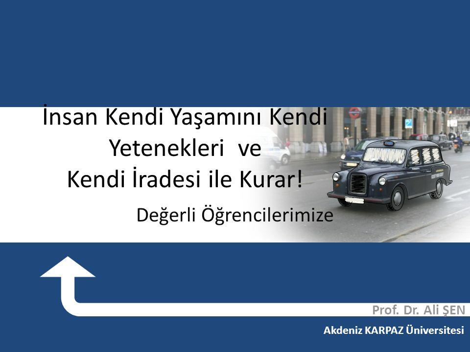Yaşam Boyu Öğrenme Prof. Dr. Ali ŞEN