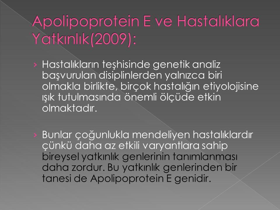 › Hastalıkların teşhisinde genetik analiz başvurulan disiplinlerden yalnızca biri olmakla birlikte, birçok hastalığın etiyolojisine ışık tutulmasında