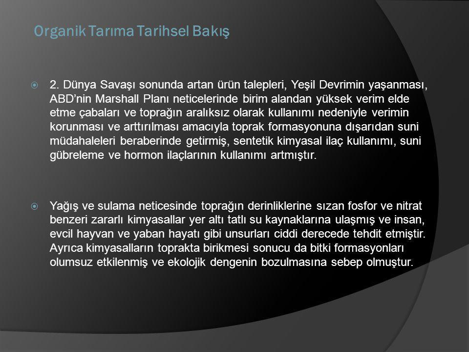 Organik Tarıma Tarihsel Bakış  2.