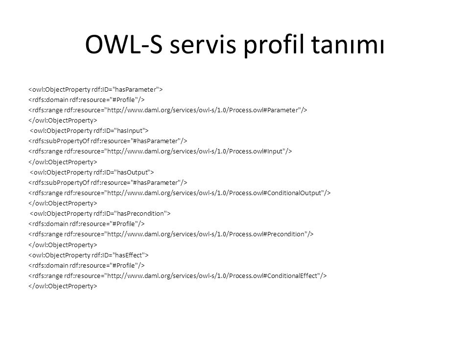 OWL-S servis profil tanımı