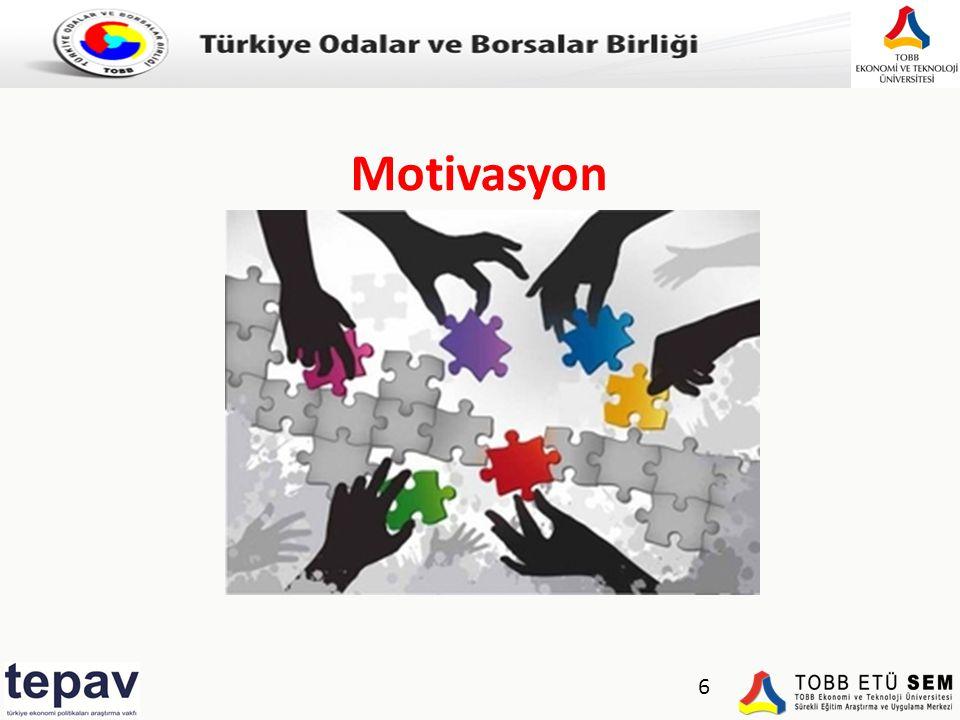 Türkiye Odalar ve Borsalar Birliği 6 Motivasyon