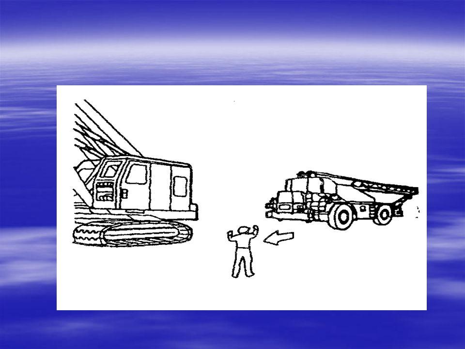 2- Kaldırma makinalarında yüklerin kaldırılmaları, indirilmeleri veya taşınmaları, yetiştirilmiş manevracılar tarafından verilecek el ve kol işaretler