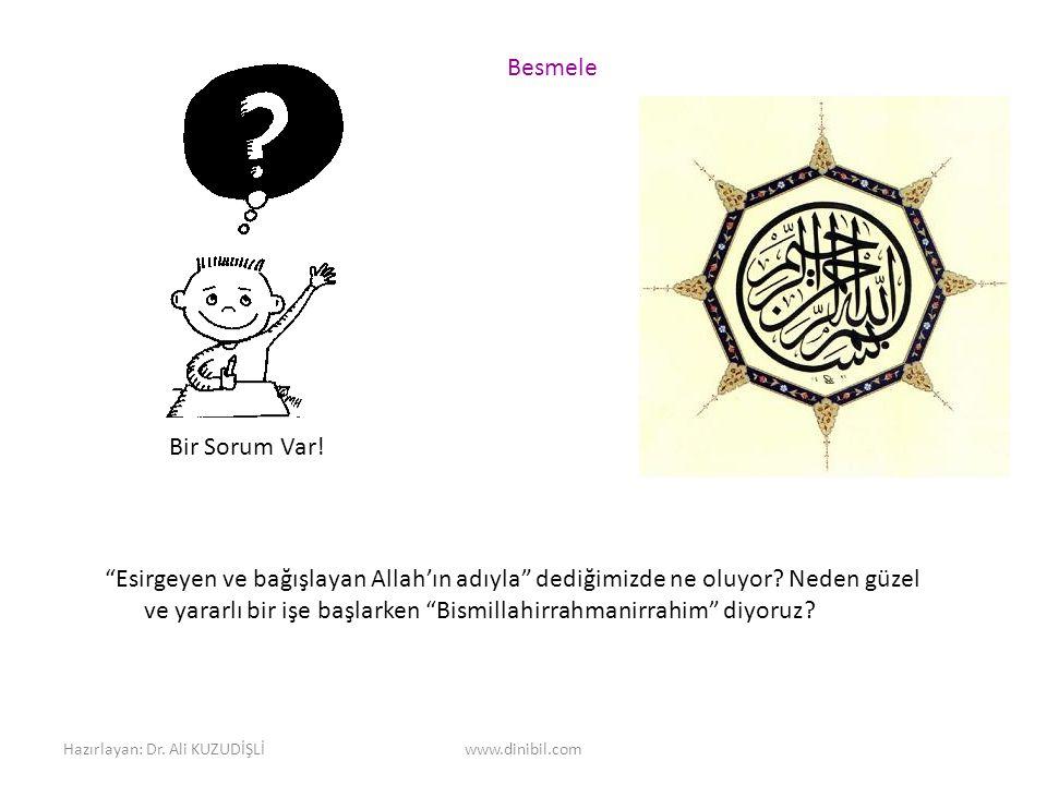 Hazırlayan: Dr.Ali KUZUDİŞLİwww.dinibil.com Bir Sorum Var.