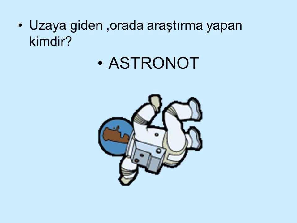 Uzaya giden,orada araştırma yapan kimdir? ASTRONOT