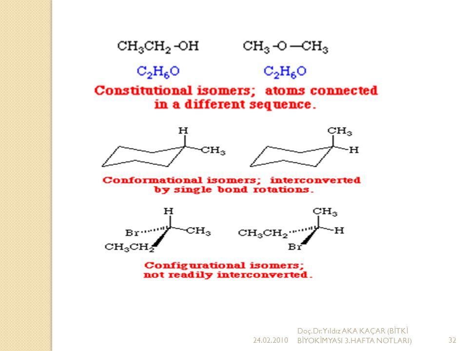 Konstitasyon formülü Kaba formülü Kaynama noktası Bütan C4H10 + 0.6 C İ zobütan C4H10 -10C Kaba formülleri birbirinin aynı ancak dizilimleri ve bazı özellikleri farklı, dolayısıyla konstitasyon formülleri de başka başka olan bileşiklere konstitüsyon izomeri adı verilir.