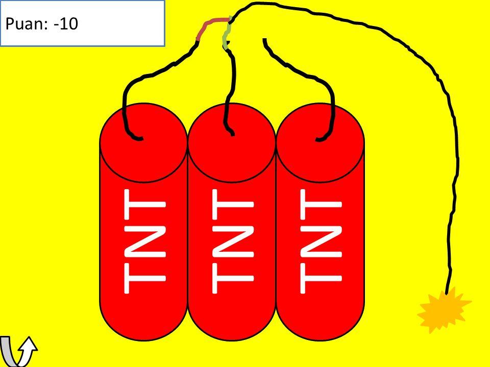 TNT Puan: 100 Kazandın Puanın: 100