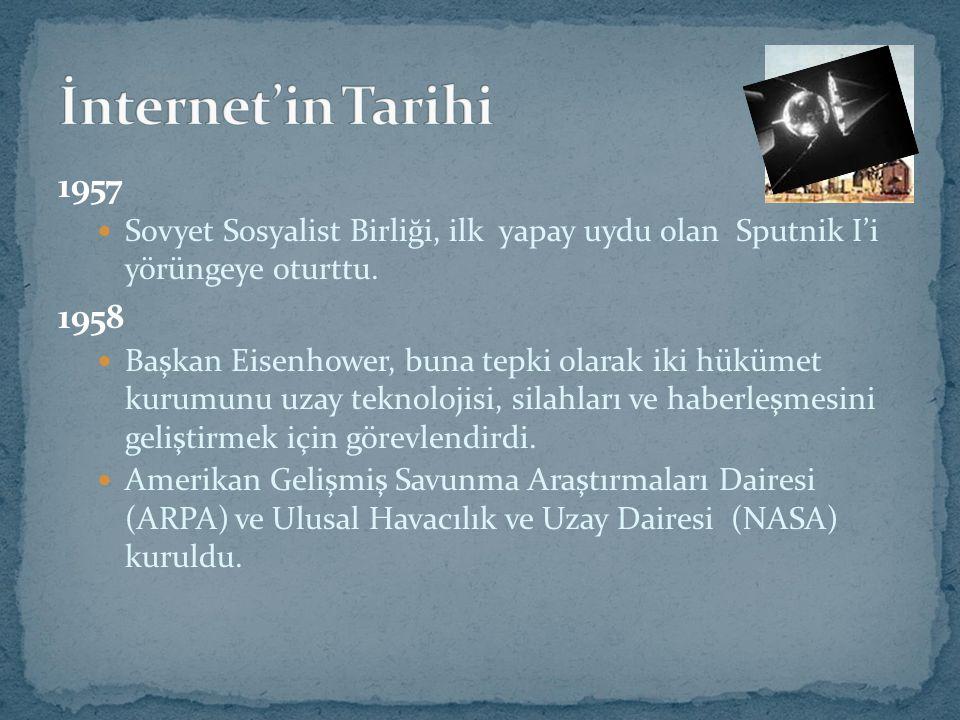 İnternet'in üç aşamalı hiyerarşik yapısı vardır: Yerel Ağ (LAN) Geniş İletişim Ağları (WAN) Ülke Ağları (Backbones)