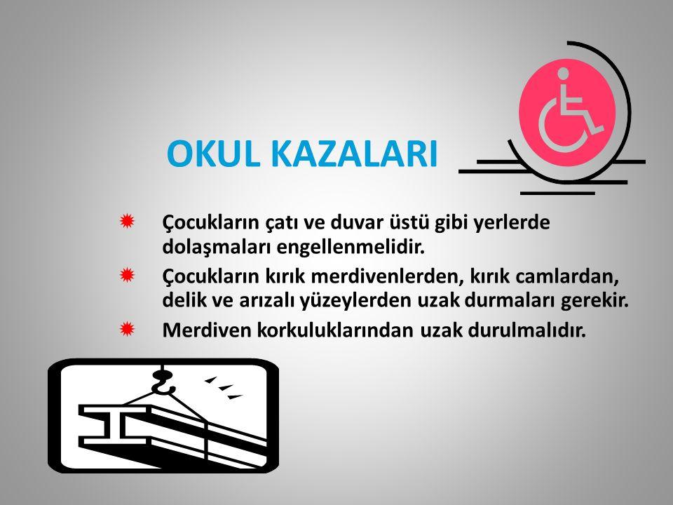 Kazalardan korunmak için alınacak önlemler .