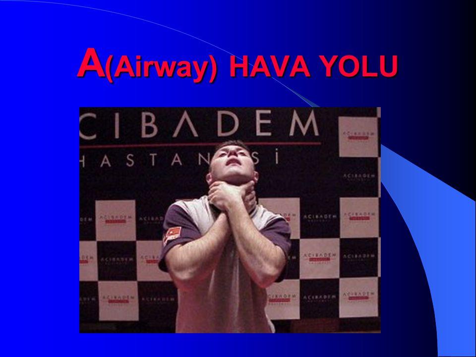 A (Airway) HAVA YOLU
