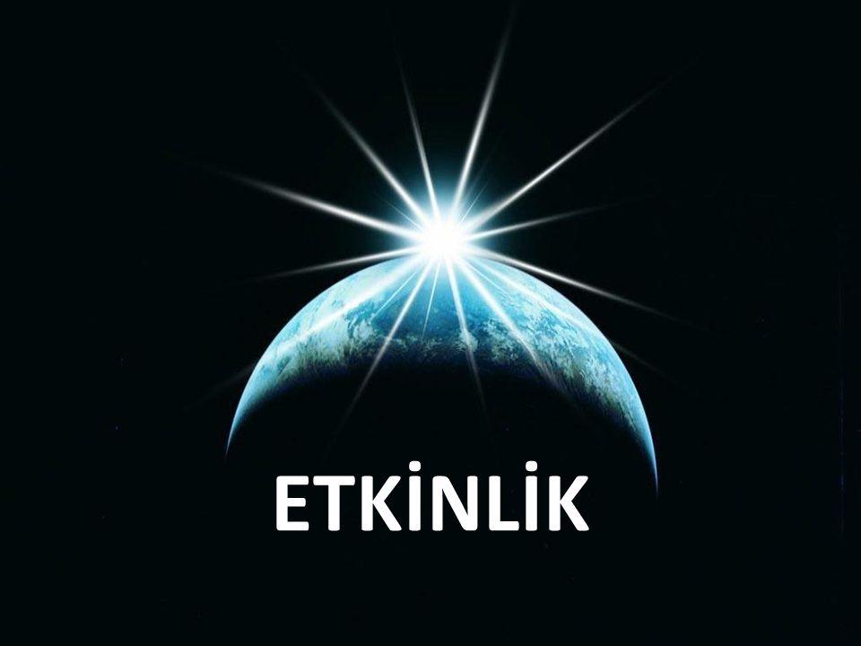 TAKVİM: Dünya nın güneş etrafında dönüşüne göre miladi takvim düzenlenmiştir.