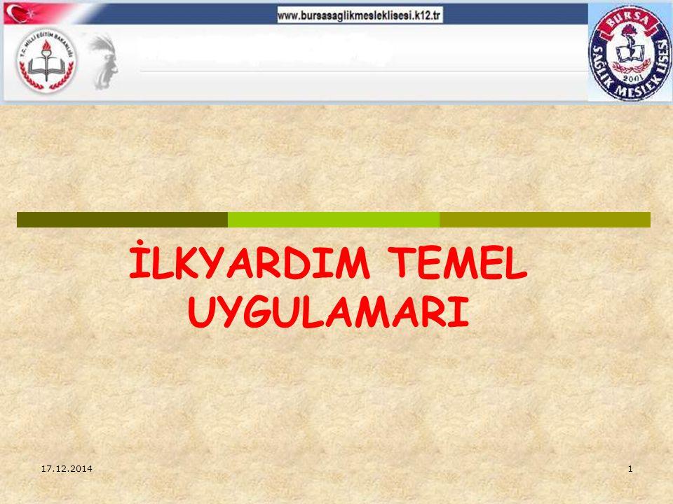 HASTA YARALININ BİRİNCİ VE İKİNCİ DEĞERLENDİRMESİ 17.12.201471